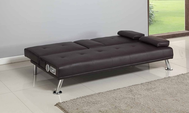 Sofa Bed With Bluetooth Speakers Groupon Goods - Bluetooth Couch
