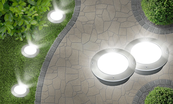 Bodenleuchten Terrasse Spots Solaires Led Encastrables | Groupon Shopping