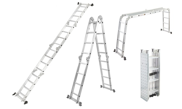 Pro Articulated Ladder Groupon Goods