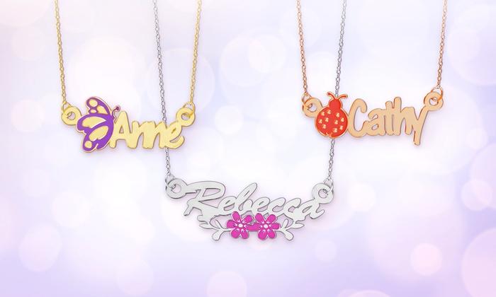 monogram online necklace