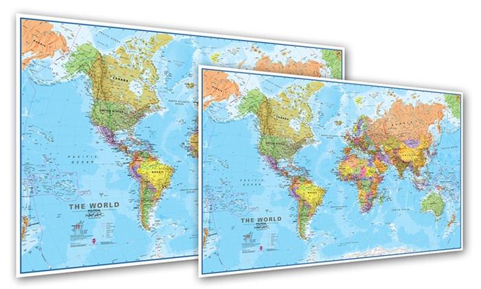 Mappa del mondo Groupon Goods - cartina mondo