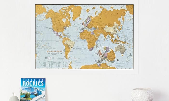 Cartina del mondo da grattare Groupon Goods