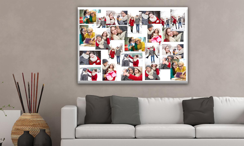 Fotocollage Auf Leinwand Selber Machen Bilder Collage Basteln
