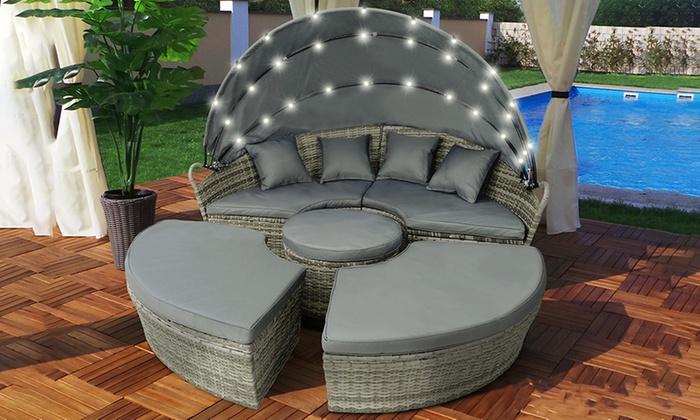 Salon De Jardin Harmony | Table 2plateaux Rond