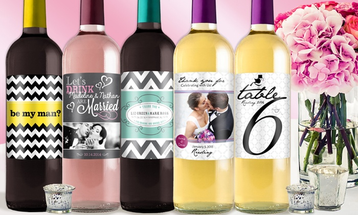 24, 48, or 75 Personalized Wine- or Beer-Bottle Labels from $24\u2013$49 from  Order Wine Labels