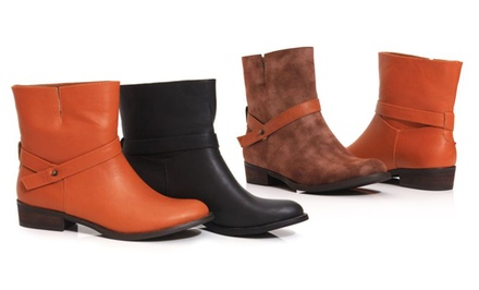 Women39s Moto Ankle Boots Groupon Goods
