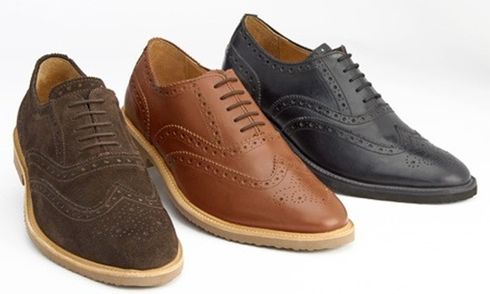 Mens Handmade Leather Shoes Groupon Goods