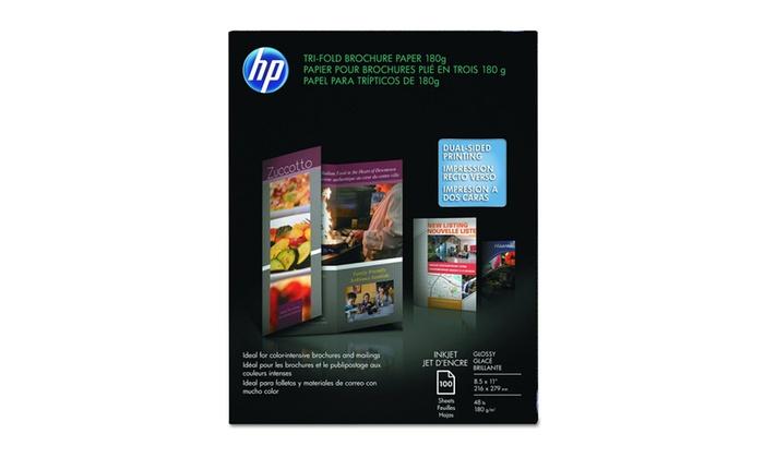 HP Tri-fold Brochure Paper Letter 85 x 11 in, Matte 100 Sheet