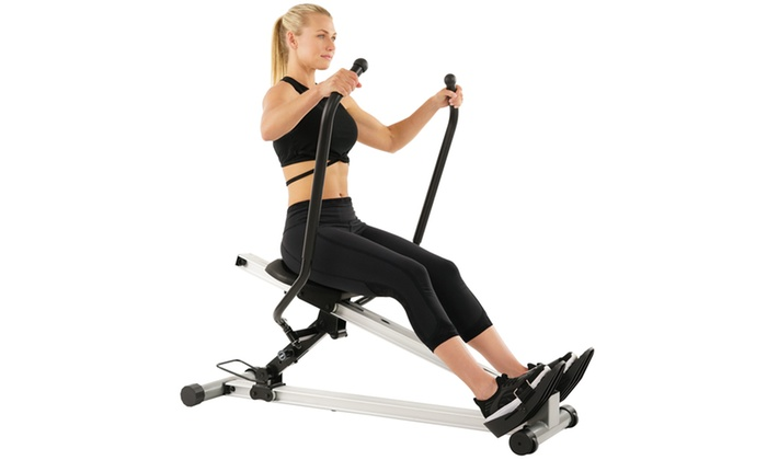 Sunny Health  Fitness Incline Slide Rower Groupon
