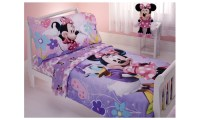 Disney Minnie Mouse 4 Pc Toddler Bedding Set | Groupon