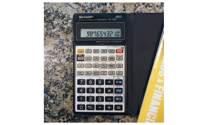 Sharp EL-733A Business  Financial Calculator- Refurbished Groupon - financial calculator