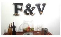Metal Monogram Wine Cork Holder - Letter Wine Cork Holder ...
