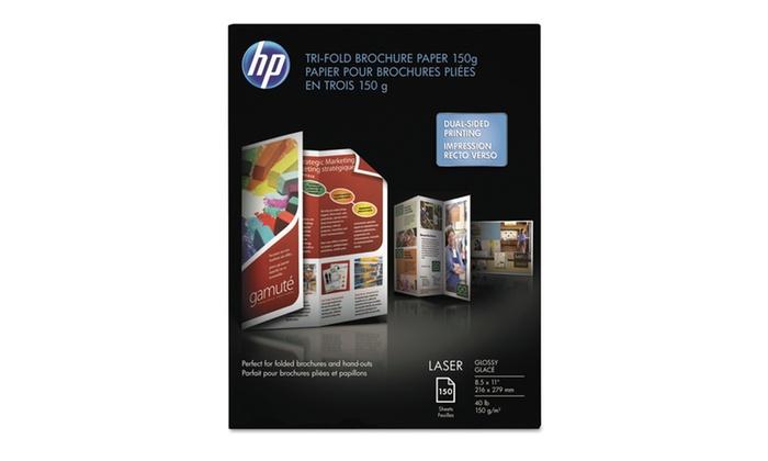 Hewlett Packard Company Tri Fold Laser Brochure Paper, 97 Brightness