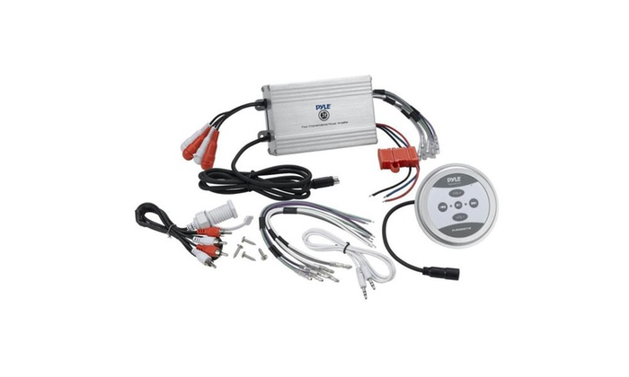 4-Ch Waterproof Rated Bluetooth Marine Amplifier Kit Groupon