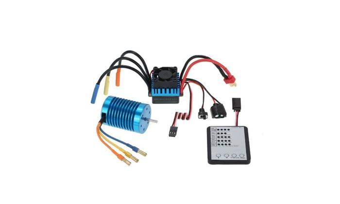 Brushless Motor  45A Brushless ESC  LED Programming Card for RC