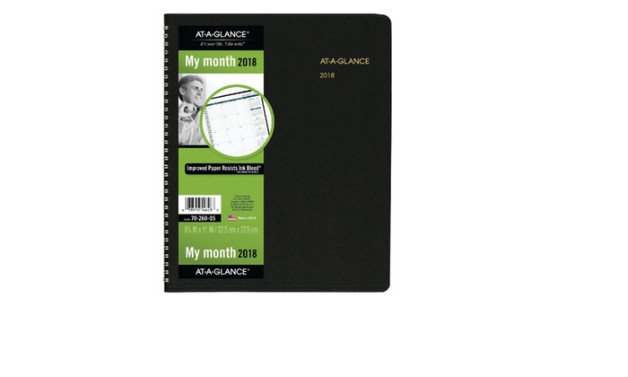 AT-A-GLANCE Monthly Planner, January 2018 - March 2019 Groupon