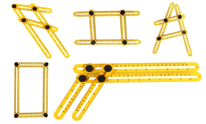 Up To 52 Off on Multi Angle Ruler Template Tool Groupon Goods - angle template