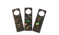 Scratch Door Hangers Craft Kit (makes 48) | Groupon