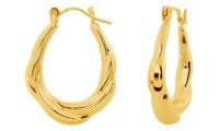 14K Yellow Gold Shrimp Earring | Groupon