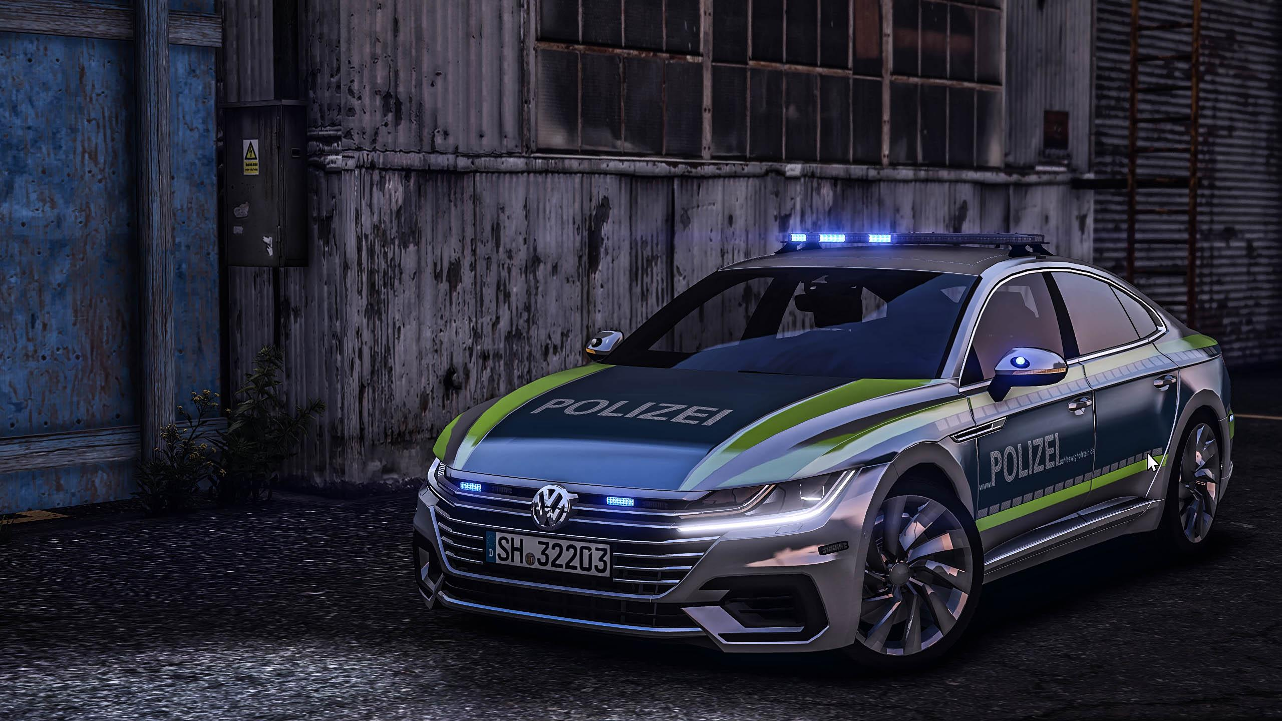 Gta 5 Cars Wallpaper Download Arteon Skins Polizei Hamburg And Schleswig Holstein Gta5