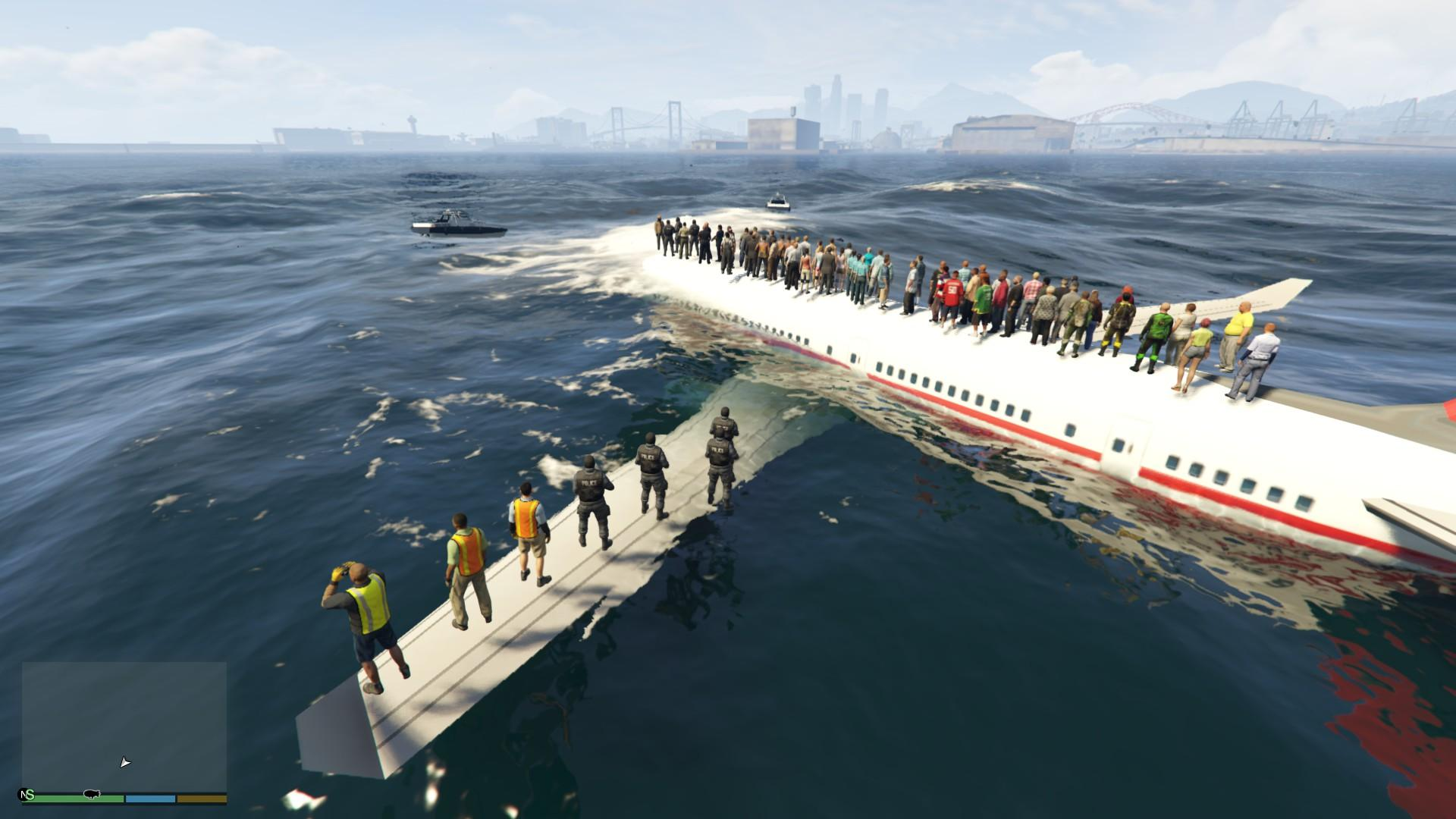 At Sea At Sea Plane Crash Gta5 Mods