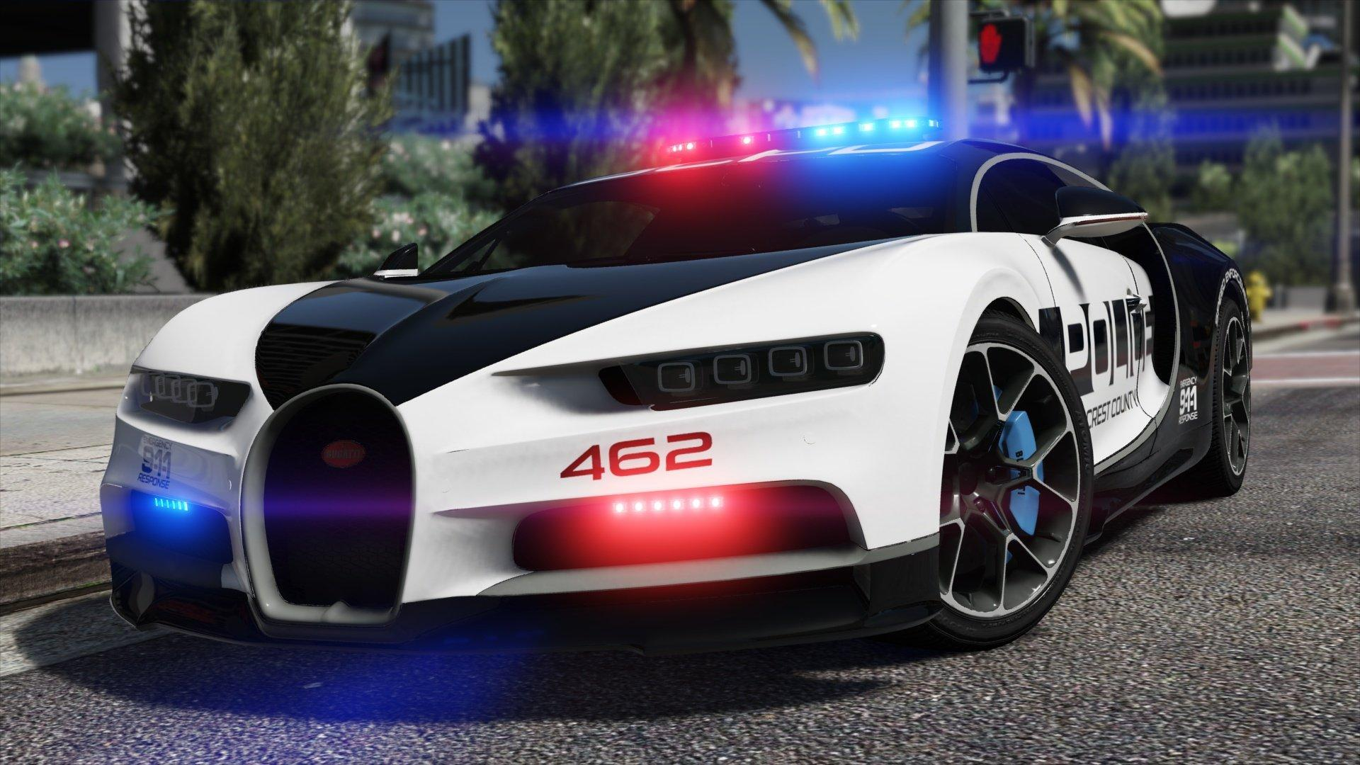 Gta 5 Cars Wallpaper Download Bugatti Chiron Hot Pursuit Police Add On Replace