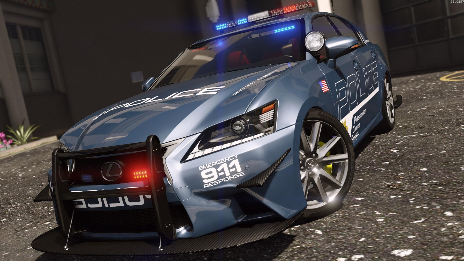 Police Car Lights Wallpaper Lexus Gs 350 Hot Pursuit Police Add On Replace