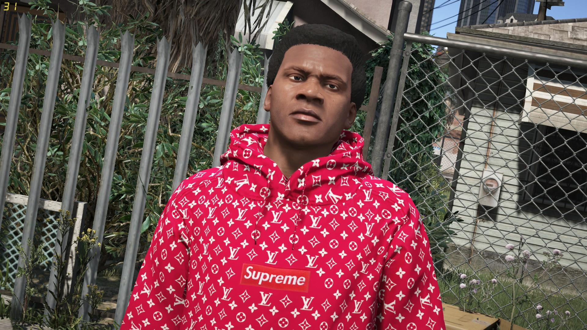 Pull Over Hoodie Red Supreme X Lv Pullover Gta5 Mods
