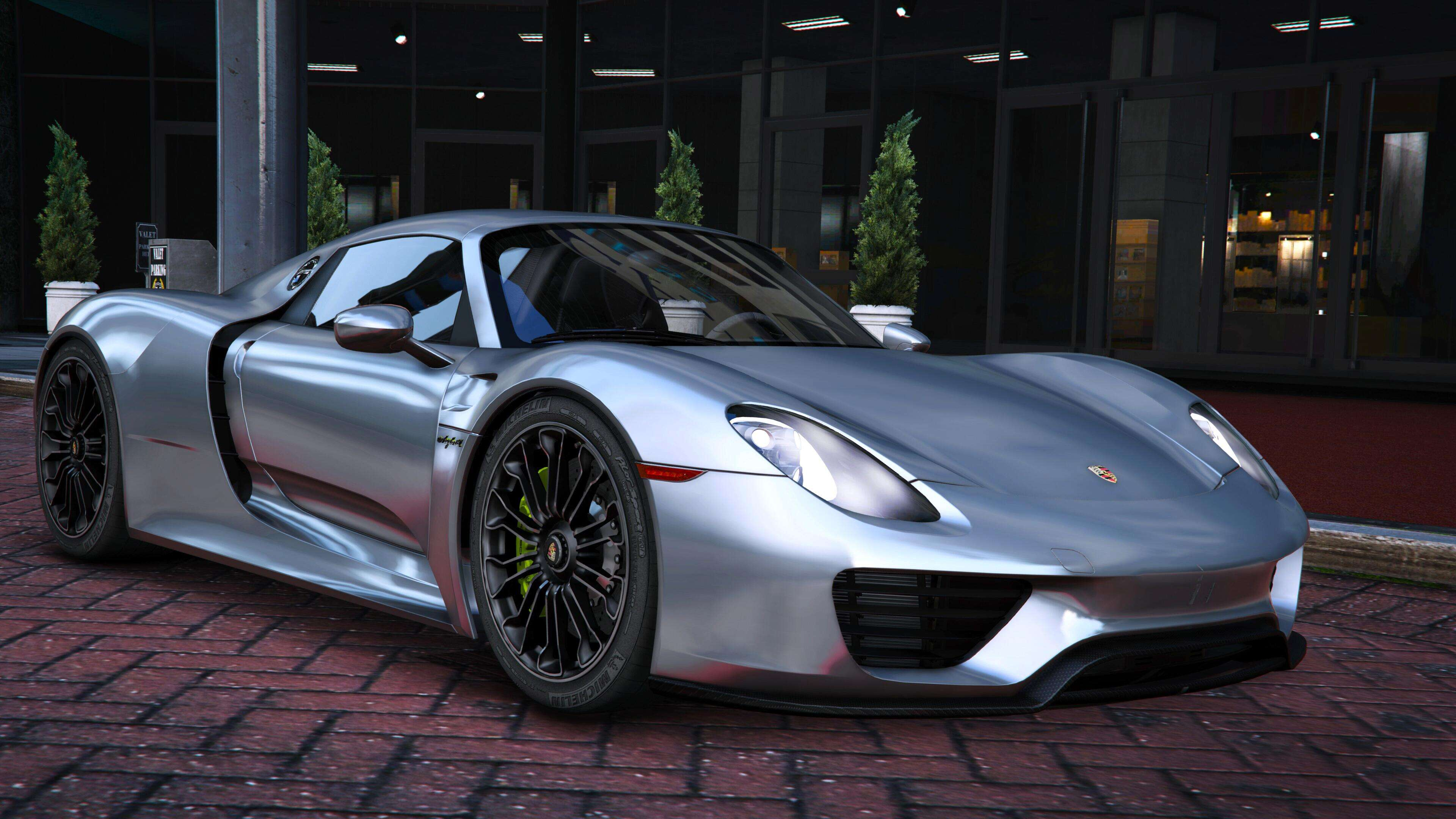 Police Car 4k Wallpaper 2015 Porsche 918 Spyder Amp Weissach Kit Add On Real