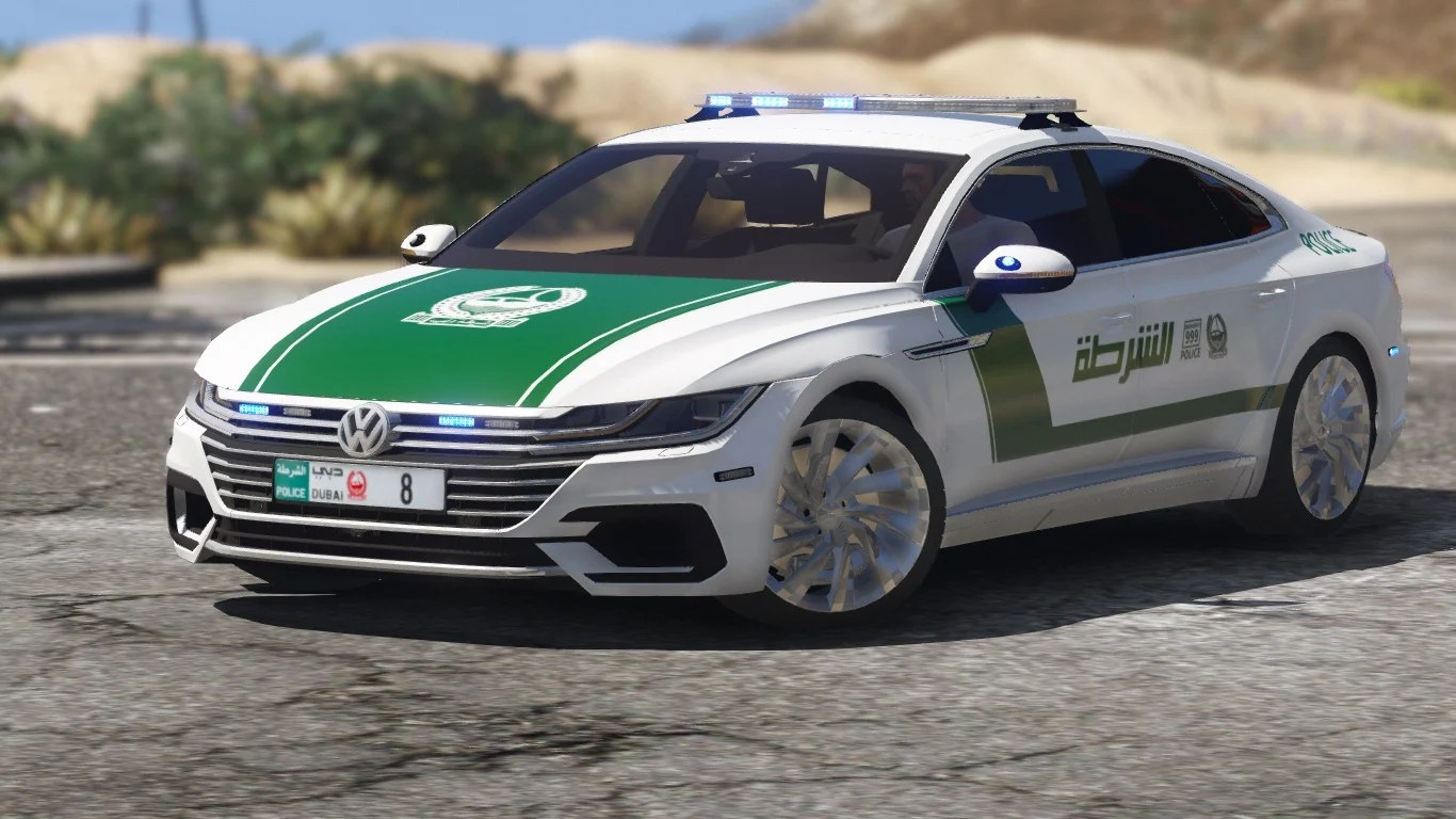 Dubai Police Car Wallpapers Add On Oiv 2018 Volkswagen Arteon Dubai Police Gta5