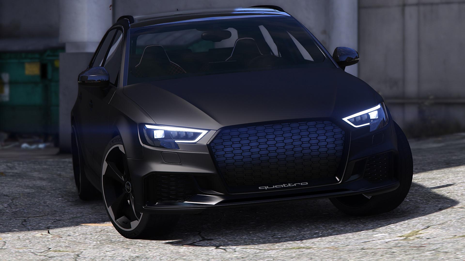 Audi Rs3 Wallpaper Hd Audi Rs3 Sportback 2018 Add On Tuning Abt Gta5 Mods Com