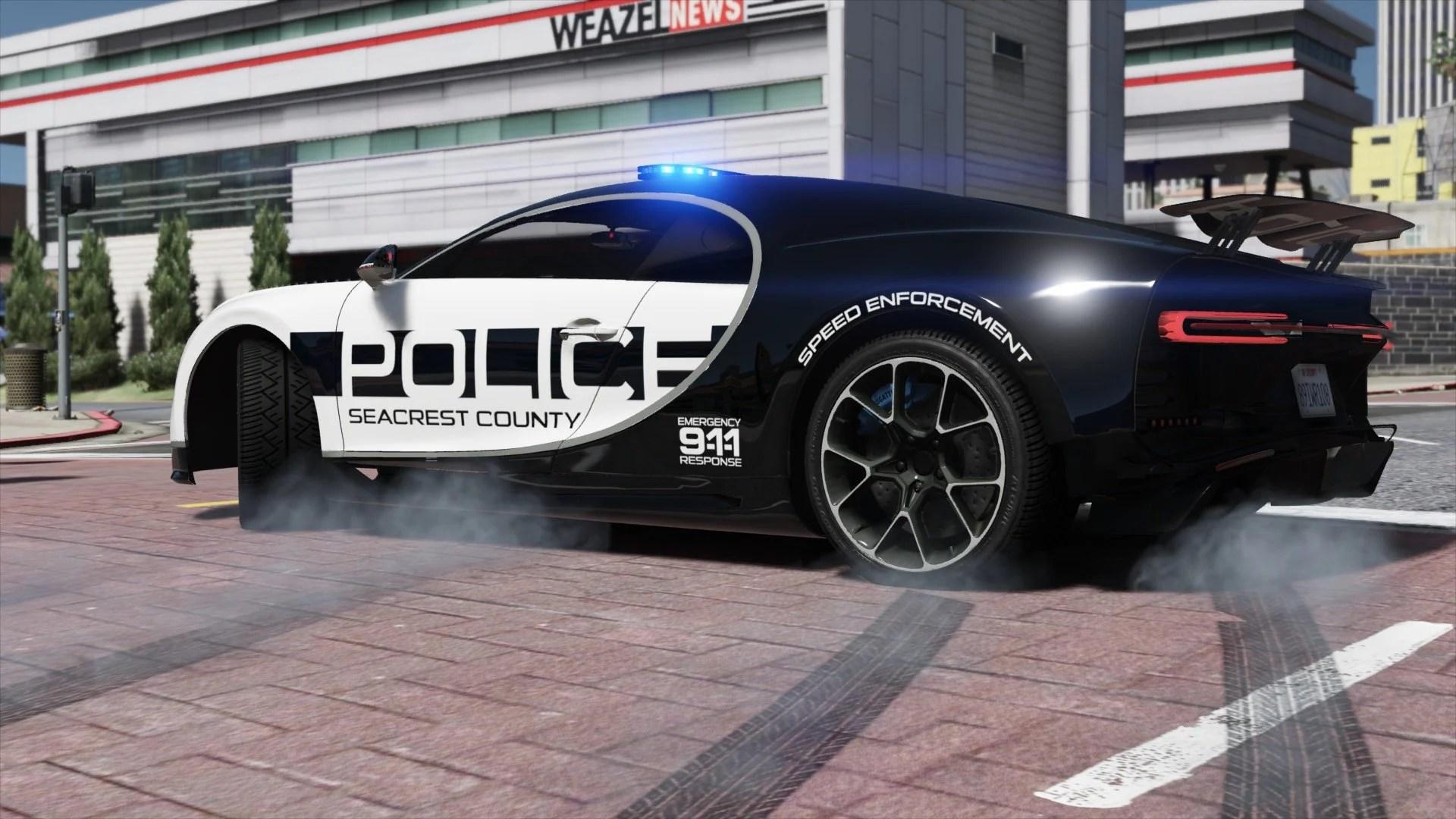 Gta 5 Cars Wallpaper Download Bugatti Chiron Hot Pursuit Police Add On Replace