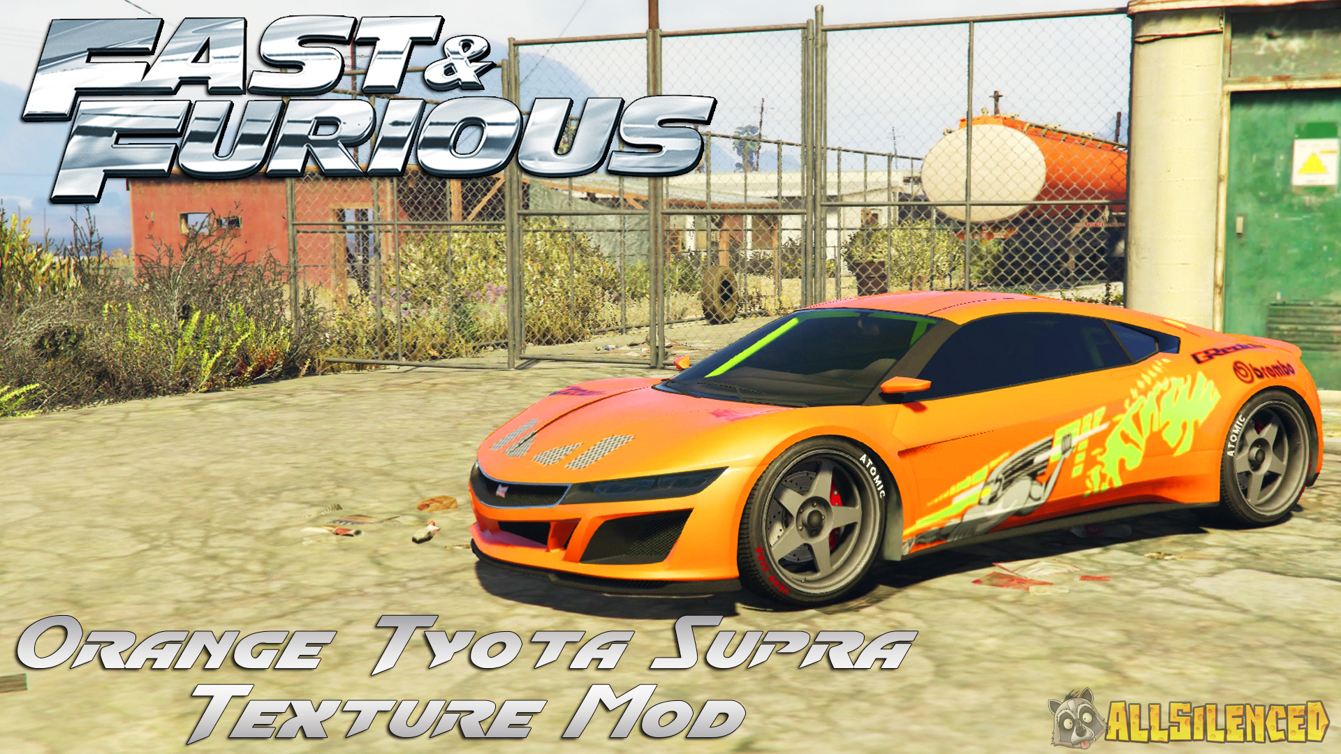 Toyota Supra From The Fast And The Furious Fast And Furious Orange Toyota Supra Texture Mod Gta5 Mods