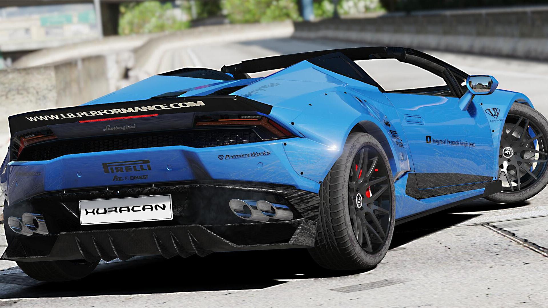 Veneno Hd Wallpaper Lamborghini Huracan Spyder Liberty Walk Paintjob Gta5