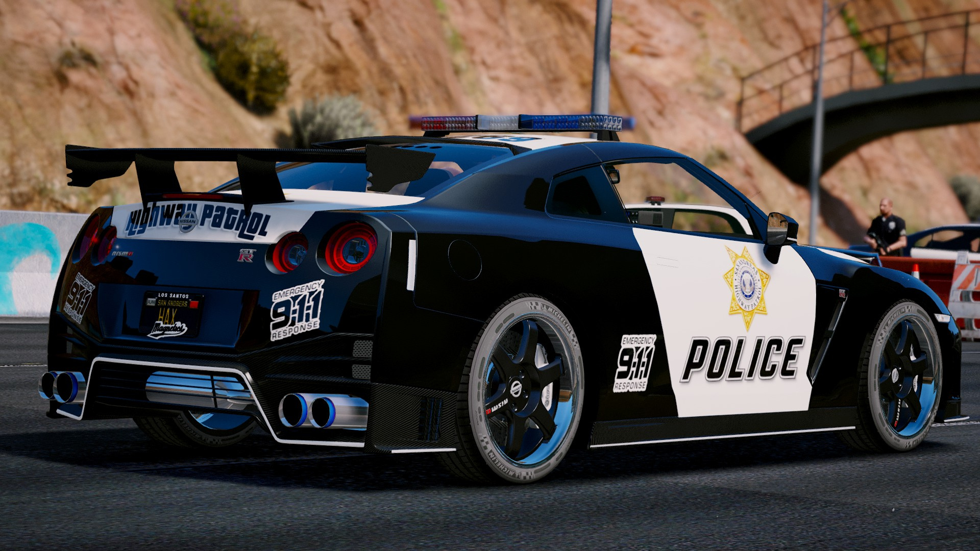 John Abraham 3d Wallpapers Nissan Gt R Nismo Police Edition Add On Tuning Gta5