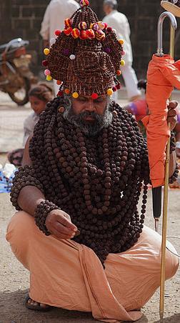 Sadhu Wearing Rudraksha