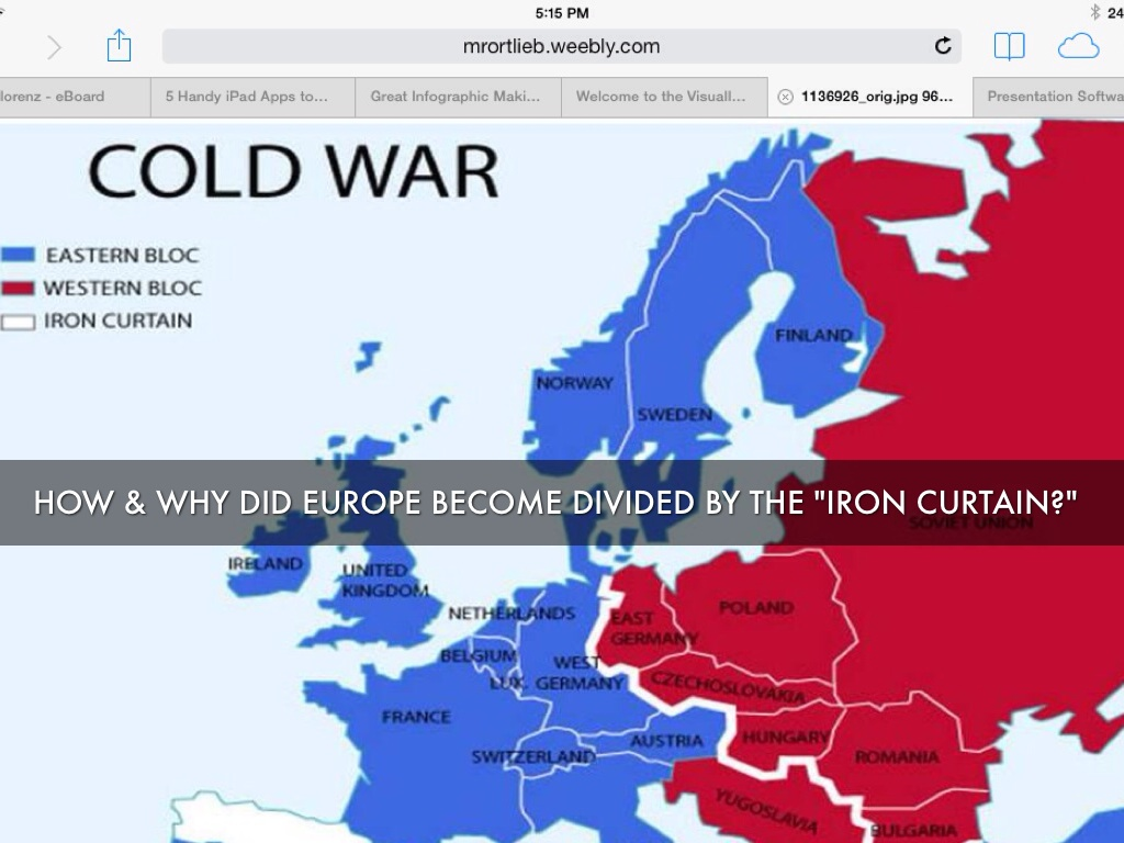 Iron Curtain Map The Cold War By Mrs Lorenz