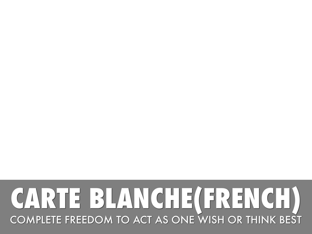 Carte Blanche French English 6th By Alina Torres