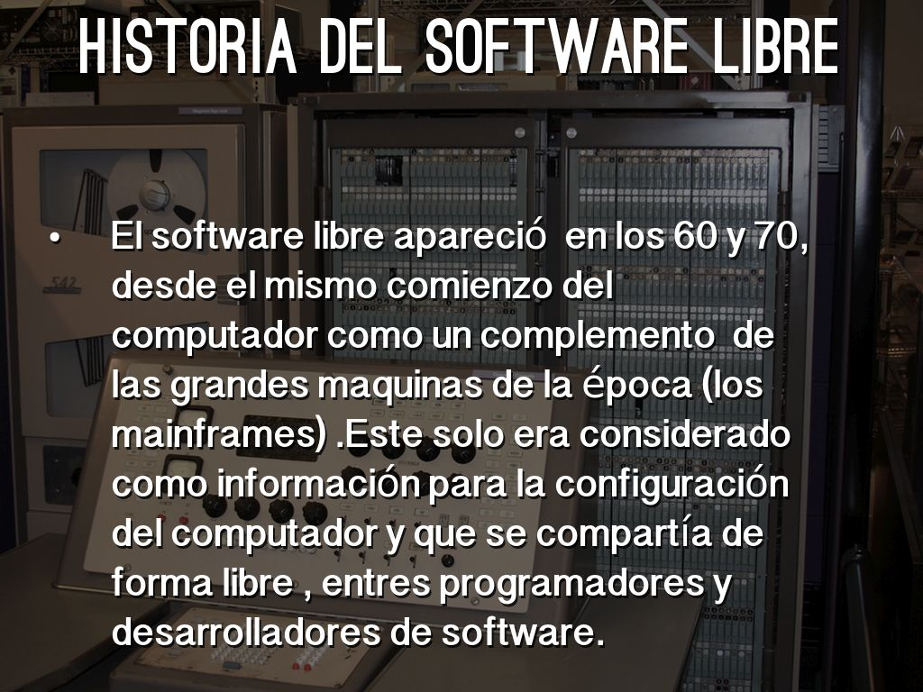 Historia Del Software Libre Software Libre By Matileonmer