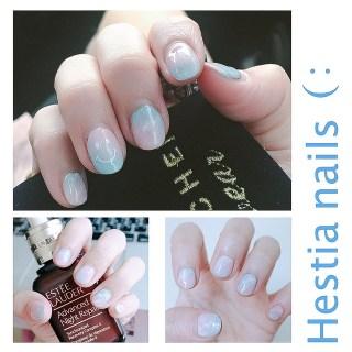 [美甲] 石英粉與寧靜藍的結合,讓光療也能同步跟上時尚!