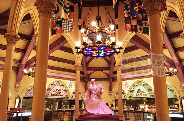 【香港】匆忙填肚子啦「香港迪士尼樂園」.迪士尼皇室宴會廳(葷素