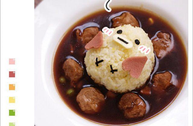 露露日常料理 ▌與小雞的親密接觸 ♥ Kiss 起司嘴燴飯