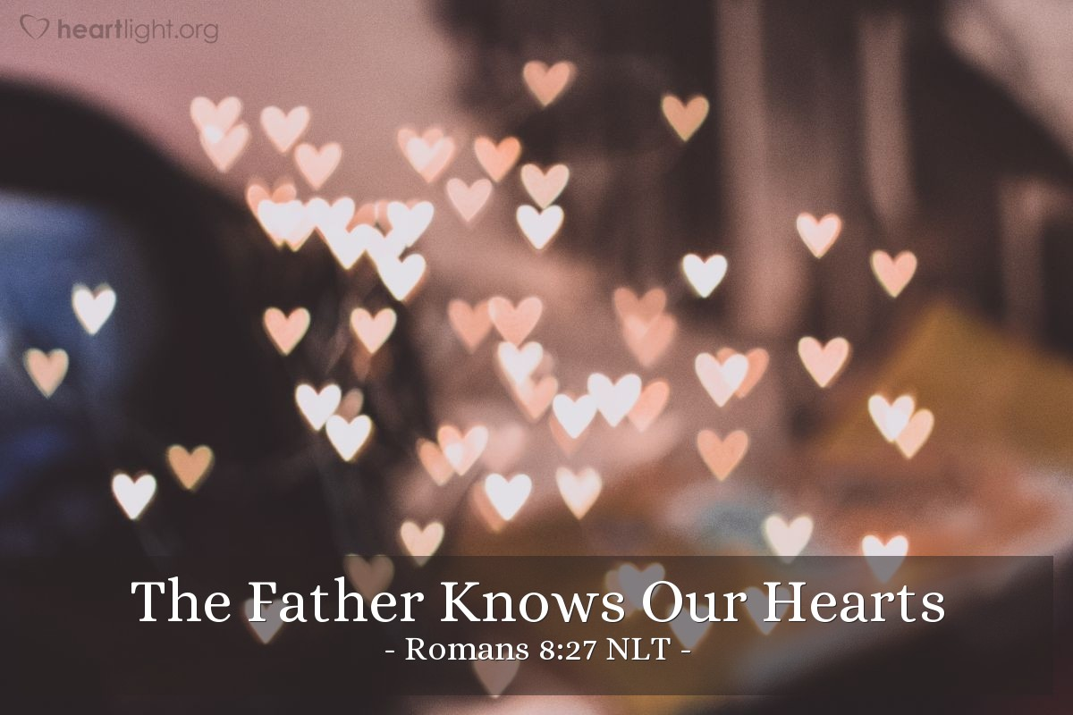 Thank You Wallpaper Animated The Father Knows Our Hearts Romans 8 27 Nlt God S