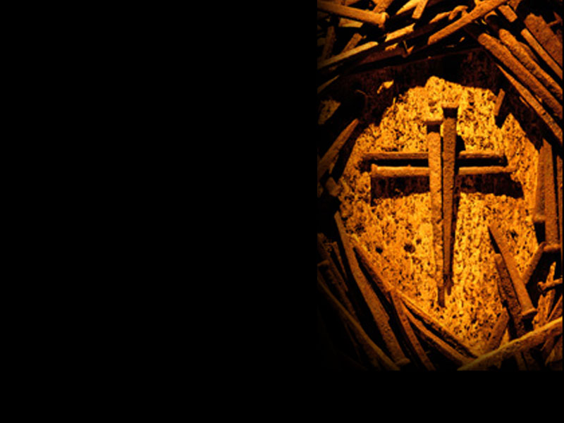 PowerPoint Background of Cross of Nails (right) \u2014 Heartlight®