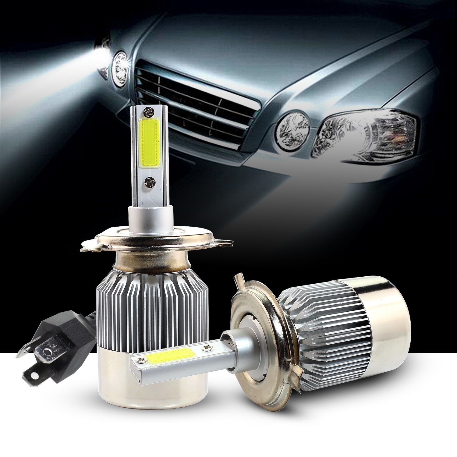 H4 Led Autolamp 2x H1 H4 H7 Headlight Led Car Bulb Autolamp Conversion Kit