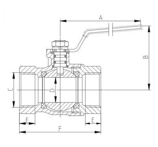 CSA approved female ball valve with side tap from China manufacturer