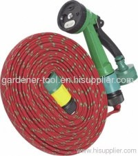 15M Flat Garden Hose Pipe With Spray Nozzle Set ...