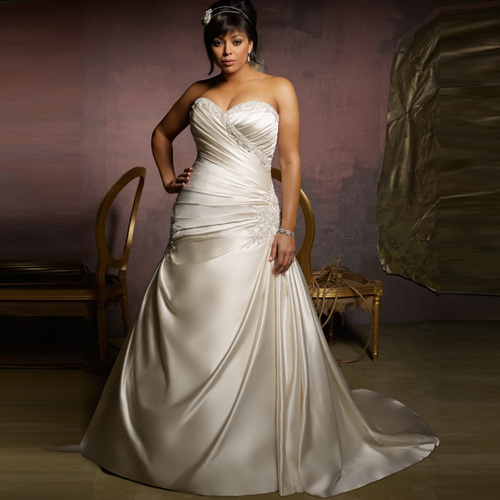 Glass Factory Manufacturer Unique Plus Size Wedding Dress From China Manufacturer