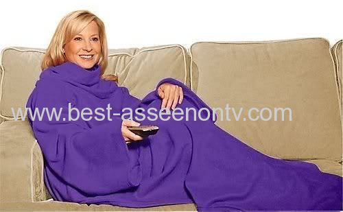 Snuggie The Blanket That Has Sleeves Adults One Size Fits
