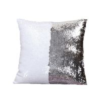 Mermaid Pillow Cover Silver/White Change Color Sequins